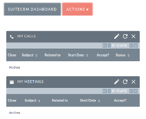 SuiteCRM Screen